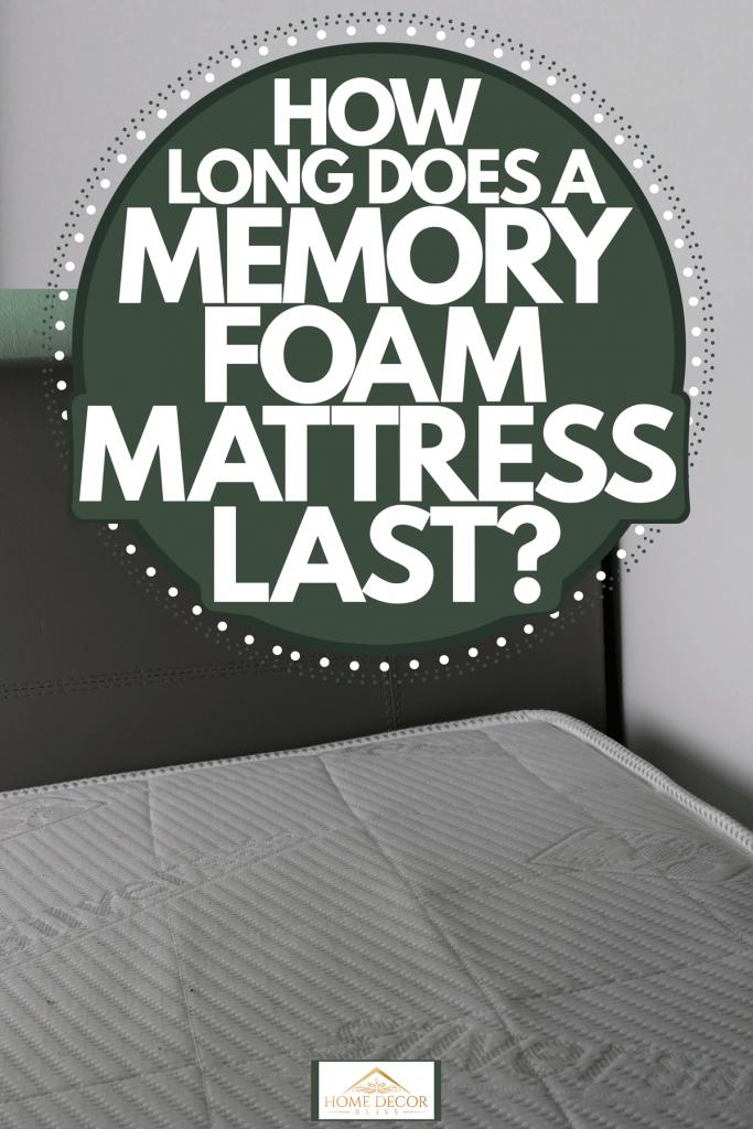 An up close photo of a memory foam mattress inside a modern bathroom, How Long Does A Memory Foam Mattress Last?