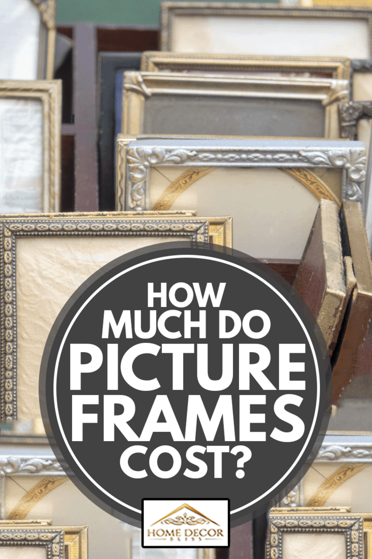 Collection of small old picture frames at the flea market, How Much Do Picture Frames Cost?