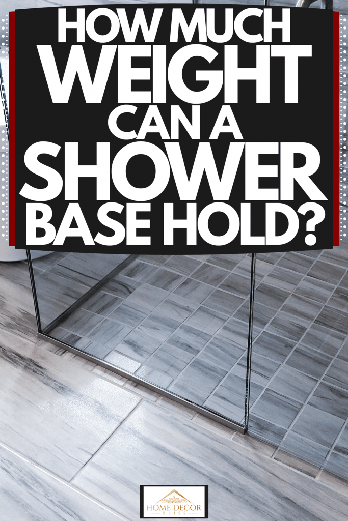 A shower area with a tiled shower base next to a small white bathtub, How Much Weight Can A Shower Base Hold?