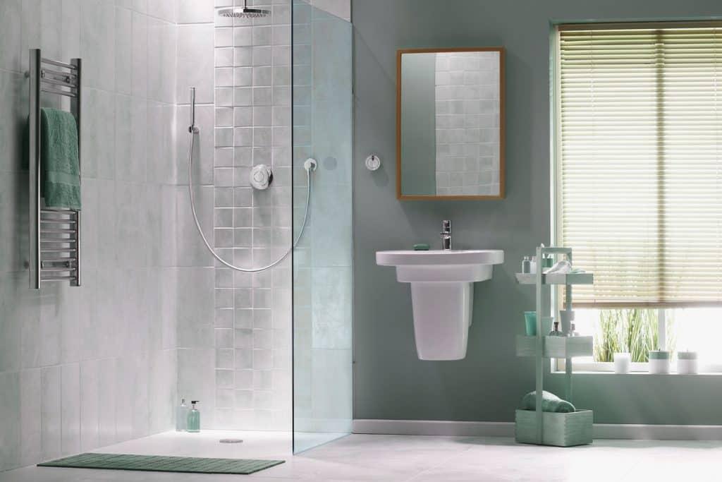 Interior of a modern bathroom with contemporary design