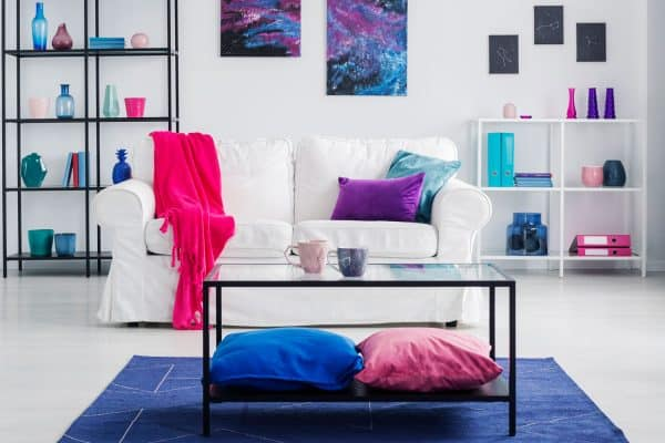 What Furniture Goes With Blue Carpet?