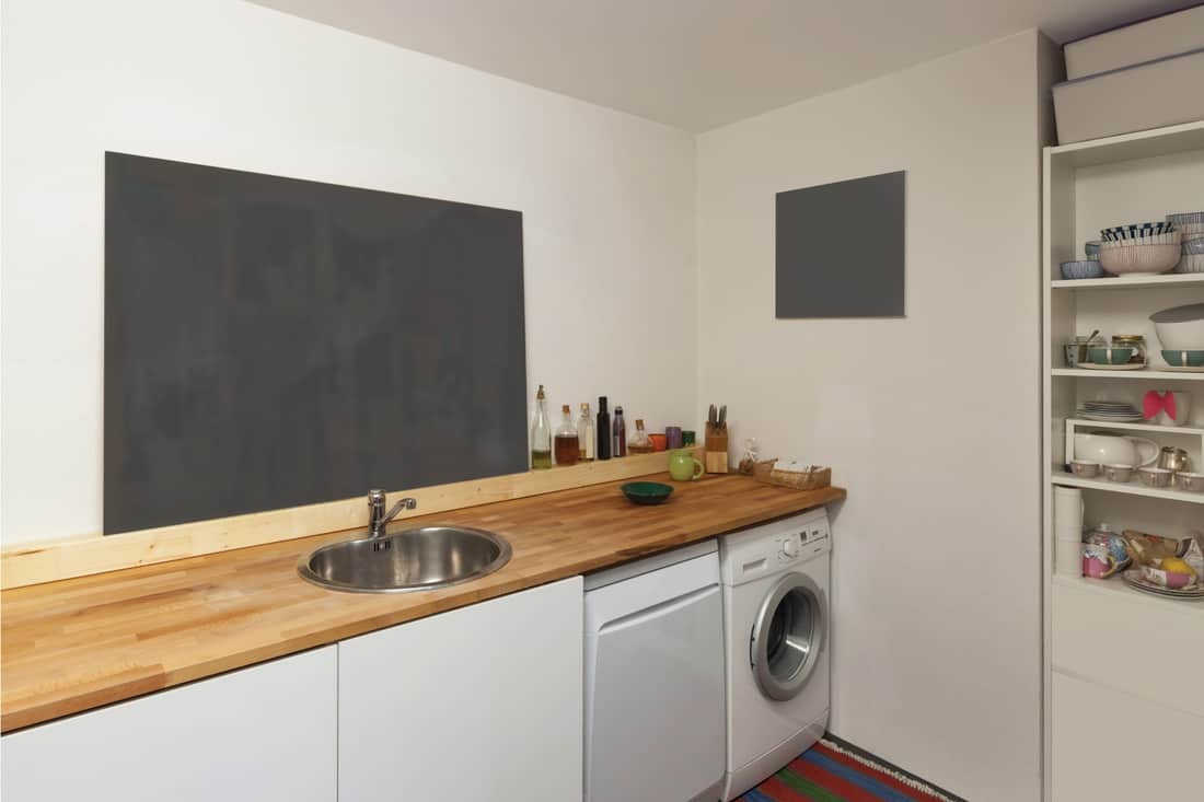 Interior, washing machine and dishwasher. Hang A Chalkboard Above The Wash Sink