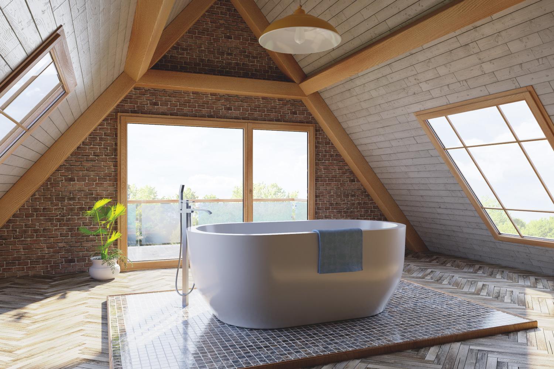 Loft attic bathroom, Make Your Entire Attic A Spa