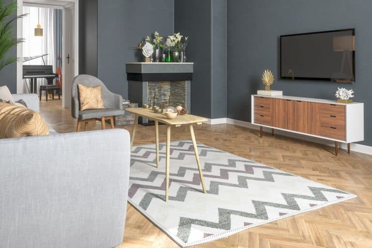 Modern Living Room with Smart Tv and ruggable rugs, How Thick Are Ruggable Pads And Rugs?