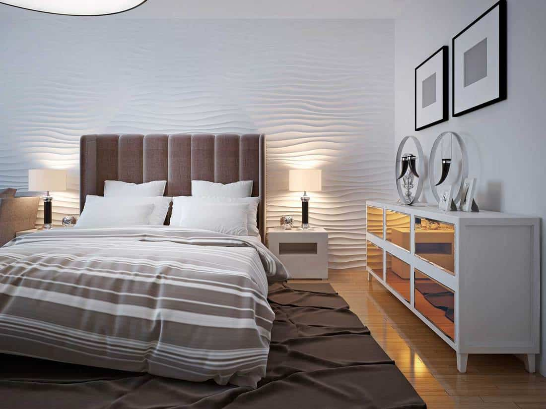 Modern bedroom with sideboard trend