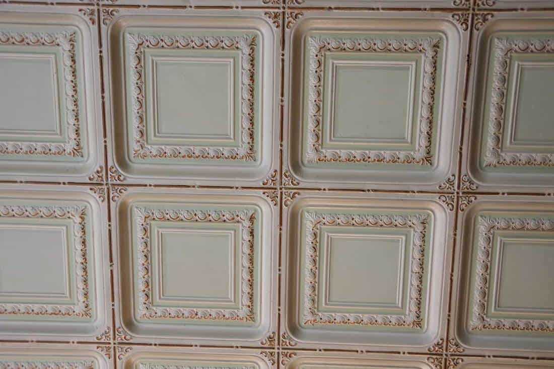 Patterns on tin ceiling tiles
