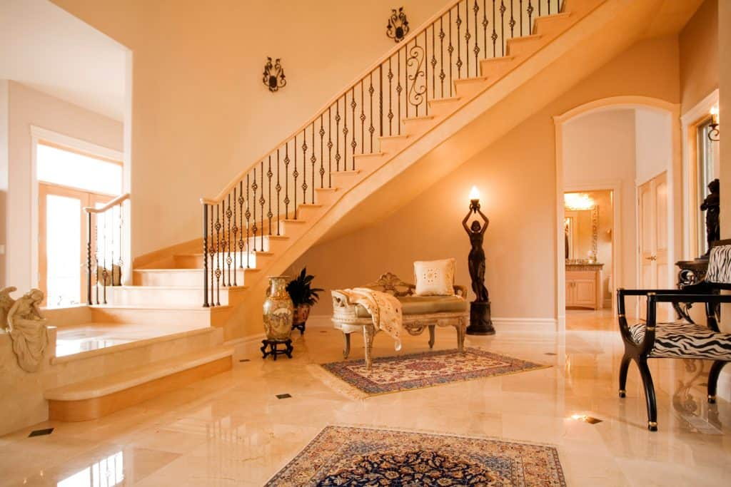 Photo of a luxurious entry to a modern upscale home.