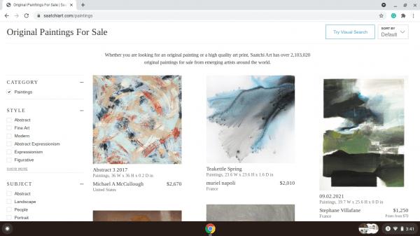 Saatchi Art website product page
