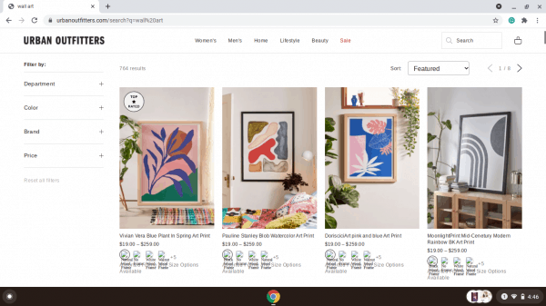 Urban Outfitters website product page