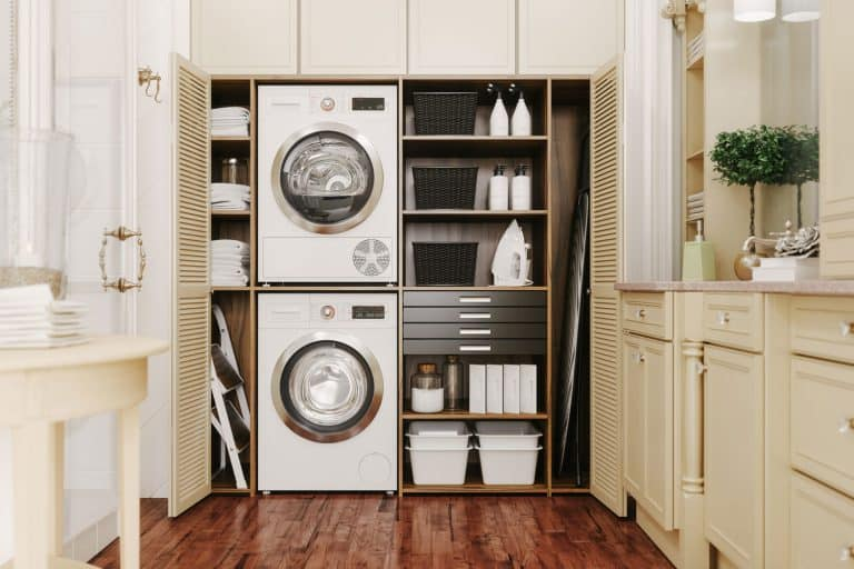 Washing machine and dryer in a luxury laundry room, Does A Laundry Room Have To Be On An Outside Wall?