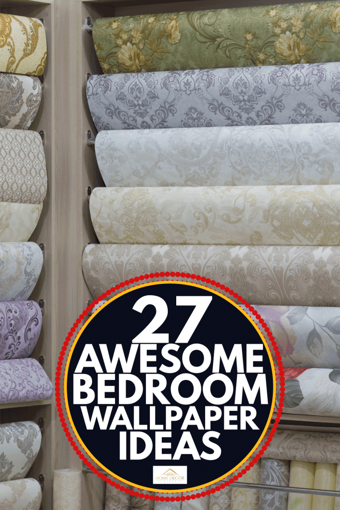 rolls of wallpaper in a shop display. 27 Awesome Bedroom Wallpaper Ideas