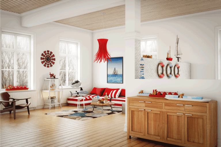 warm and cozy nautical themed home interior design. 15 Great Nautical Living Room Ideas