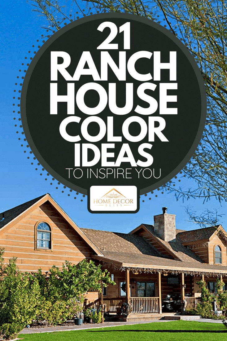 A ranch home exterior with large yard and driveway, 21 Ranch House Color Ideas To Inspire You