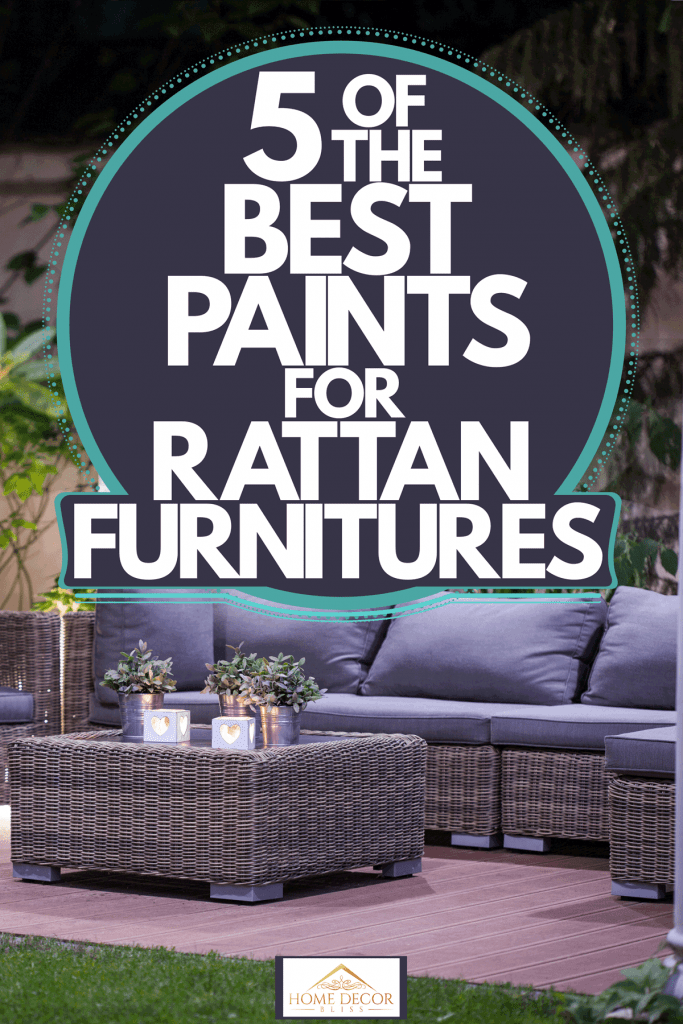 A luxurious set of Rattan chairs and coffee table on the patio, 5 Of The Best Paints For Rattan Furniture