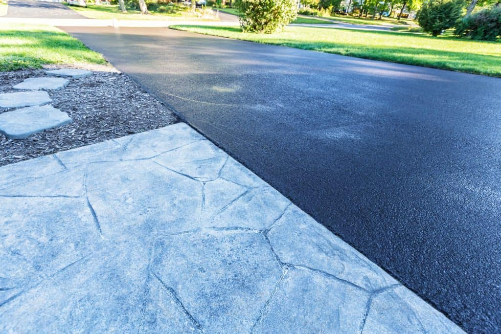 A photo of a driveway sealed