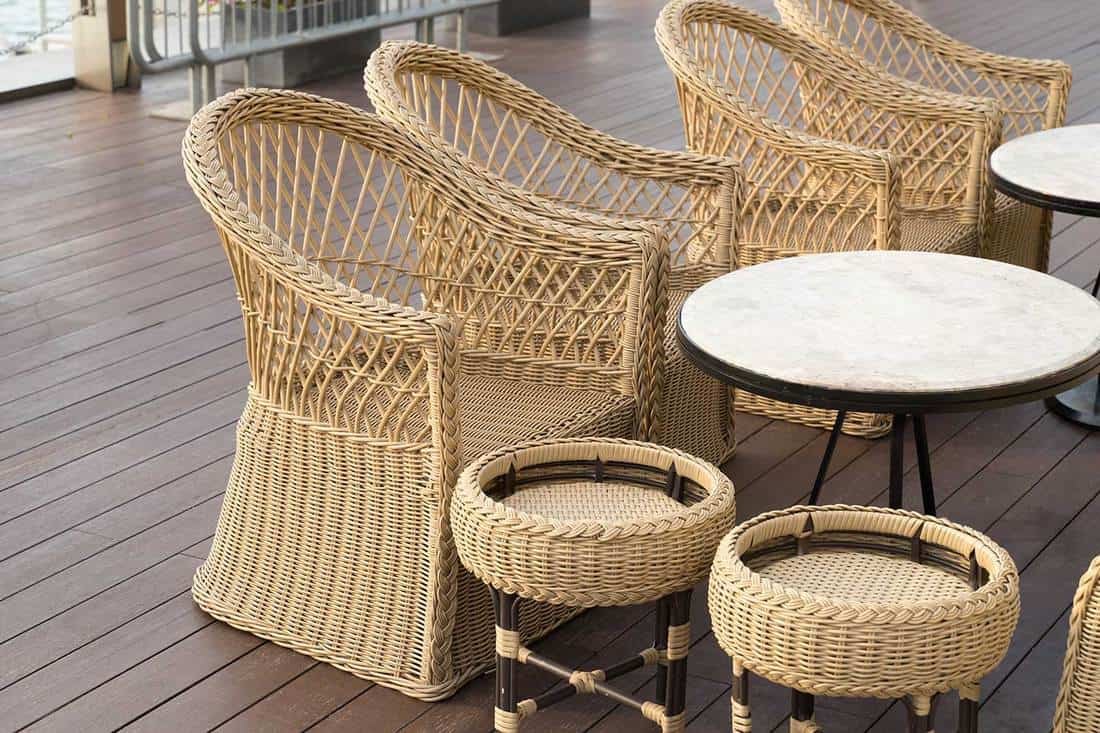 A set of luxury wicker chairs
