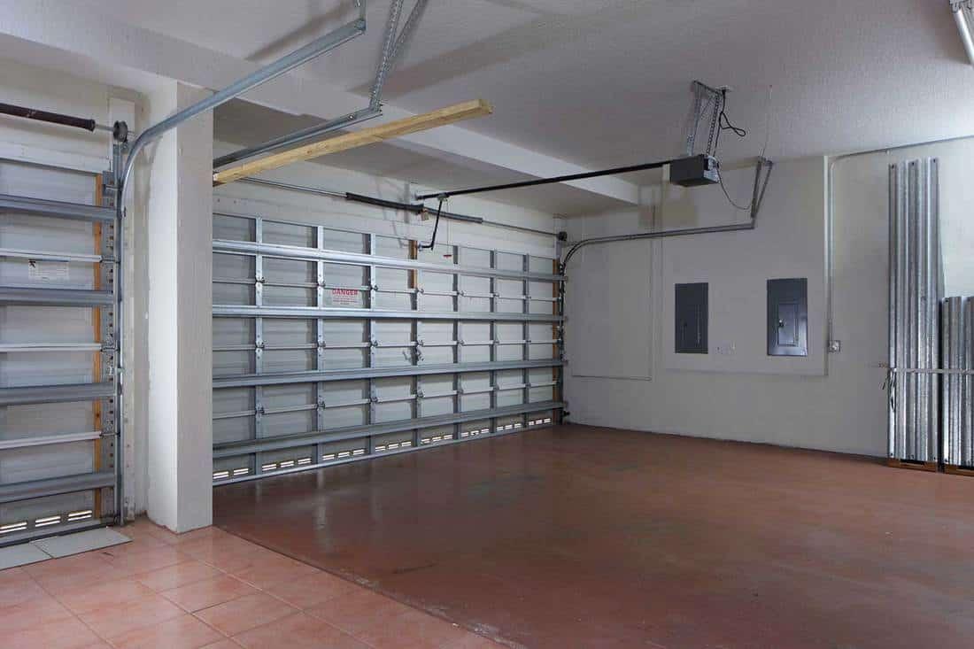 An empty home garage