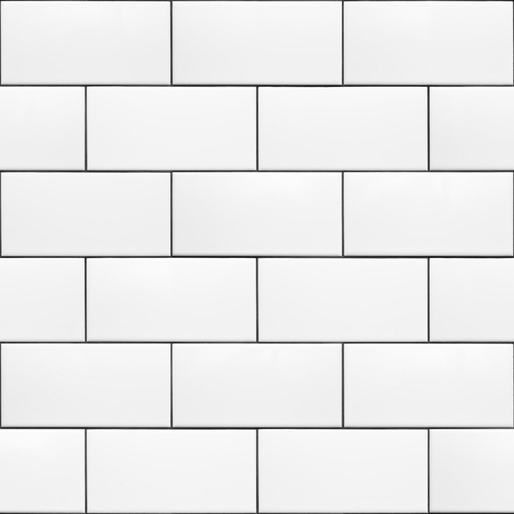 An up close photo of a ceramic subway tiles