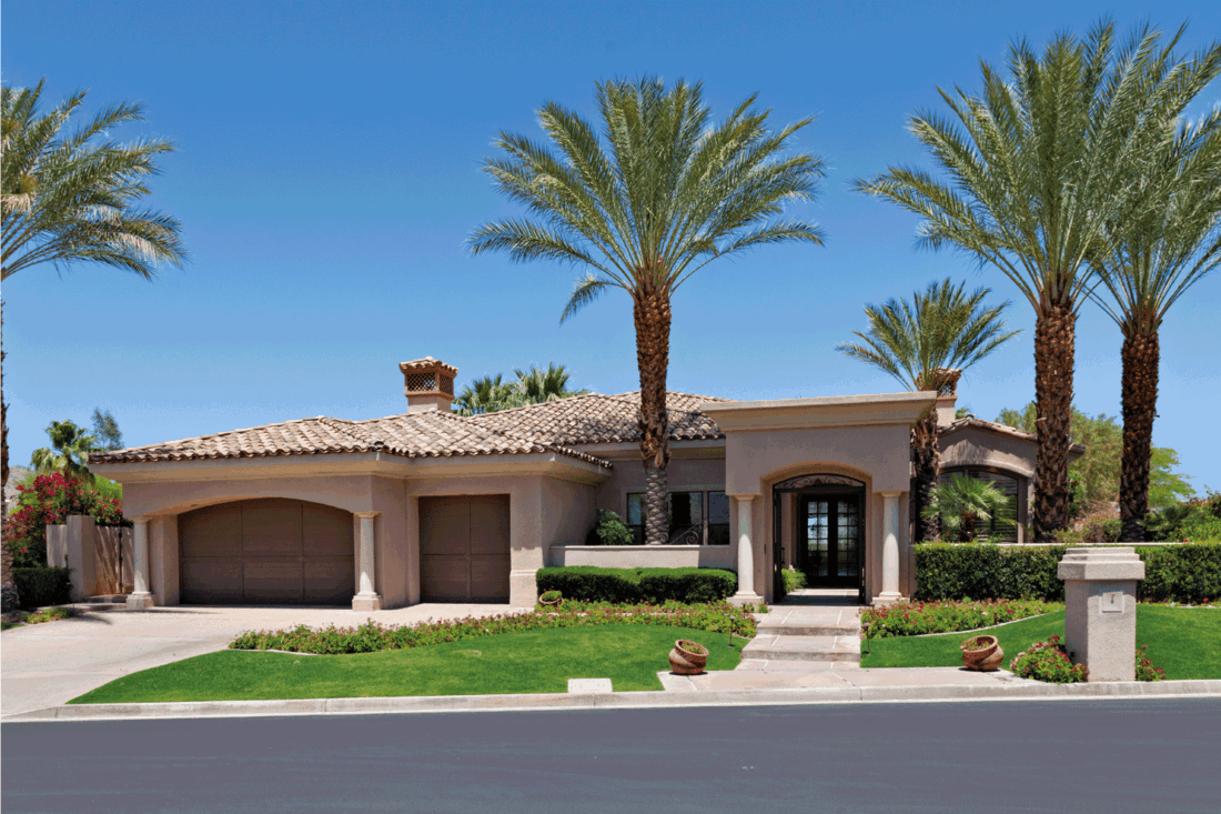 Beautiful Californian home exterior ranch style house