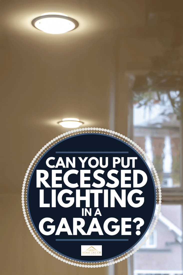 Built-in LED ceiling lights on a glossy stretch ceiling. Can You Put Recessed Lighting In A Garage