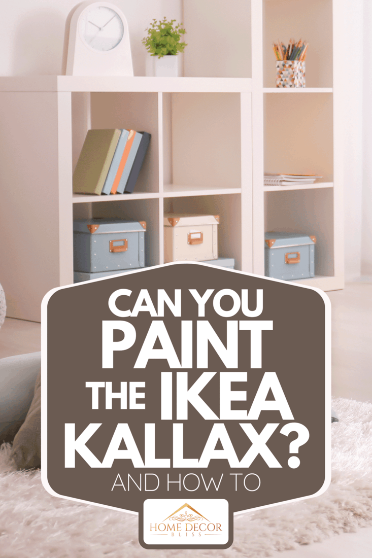 An elegant living room interior with shelving unit and comfortable armchair, Can You Paint The Ikea Kallax? [And How To]