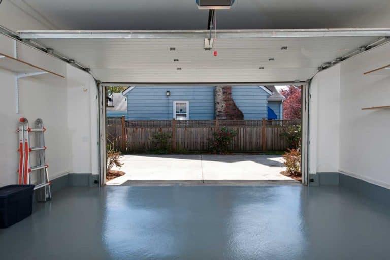Clean garage with floor painted in gray, What's The Best Garage Floor Coating?
