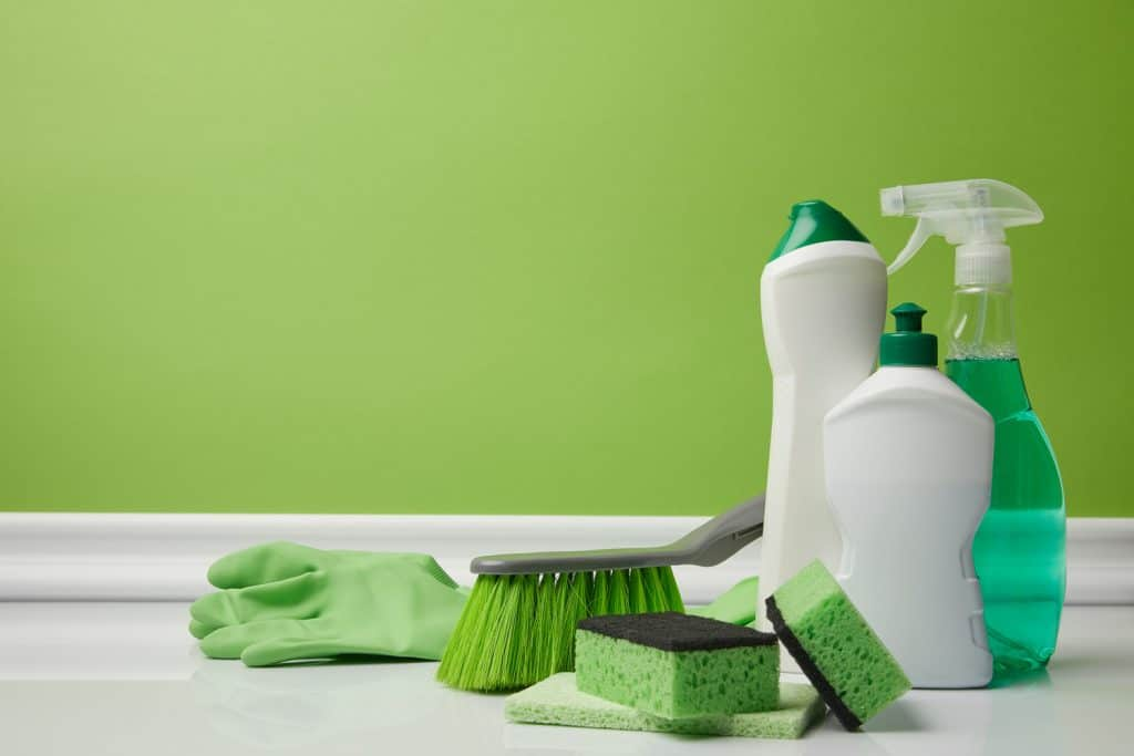 Cleaning tools for marble backsplash