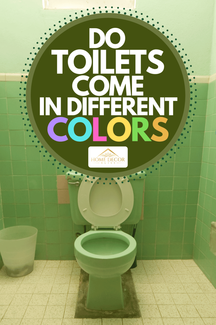 A white and green theme tiled bathroom, Do Toilets Come In Different Colors?