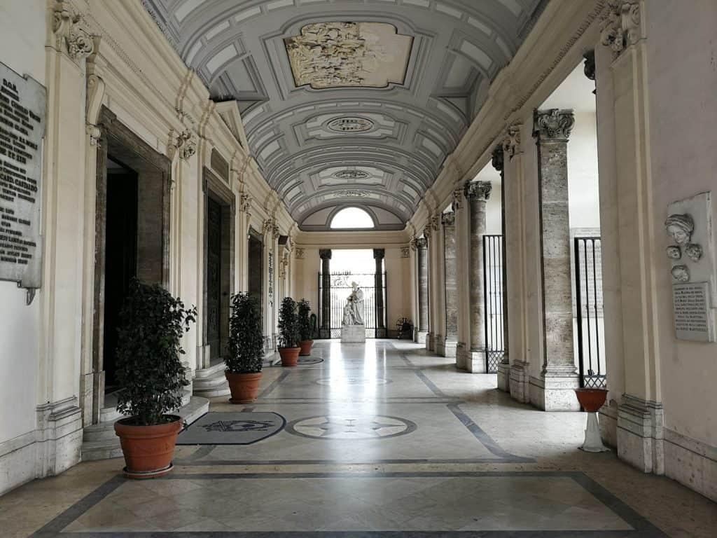 Entrance portico of the Basilica of the Incoronata