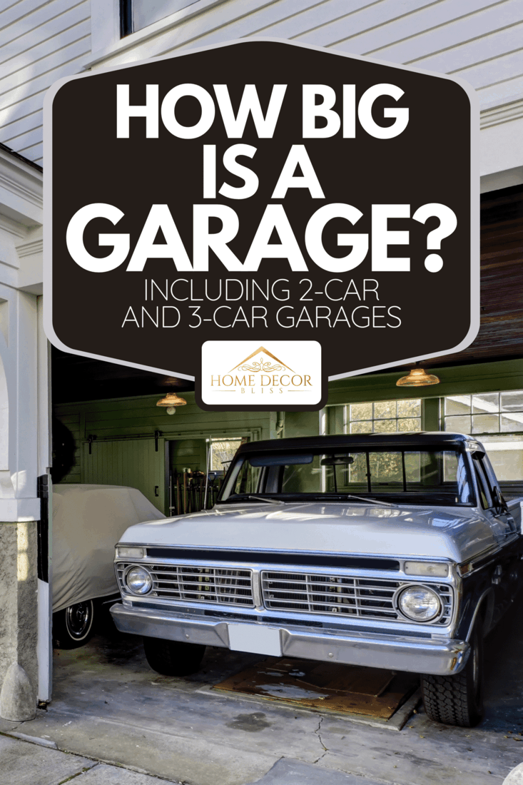 A house exterior with view of garage and driveway, How Big Is A Garage? [Including 2-Car And 3-Car Garages]