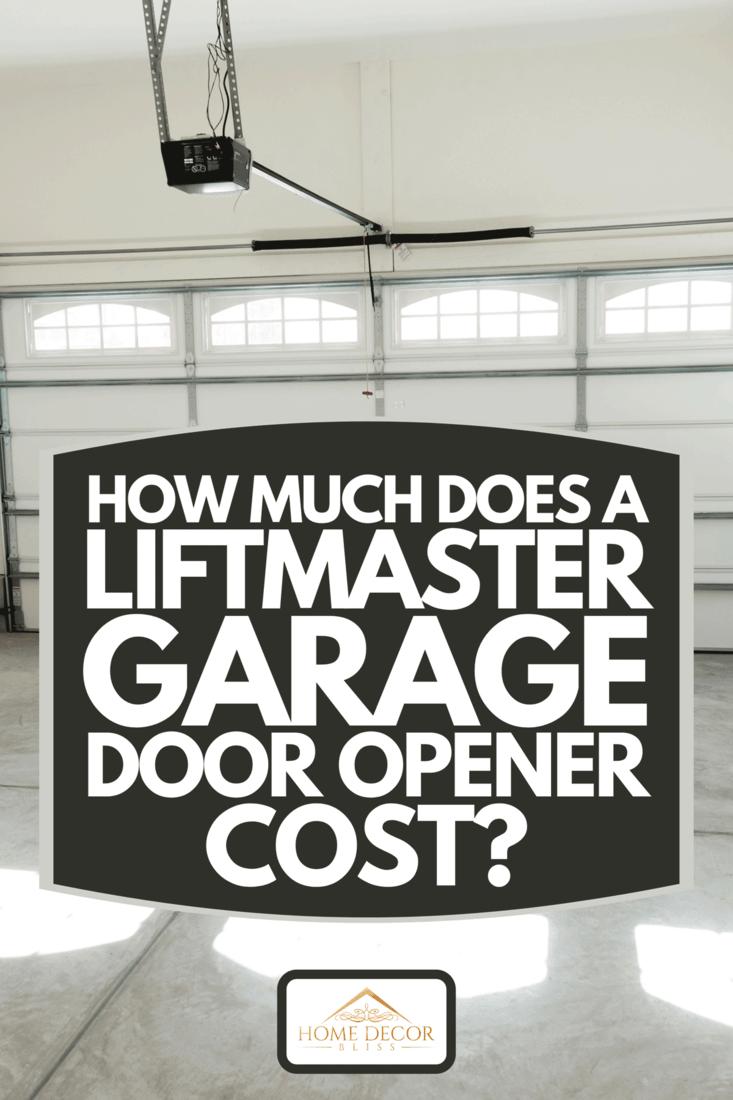A two car garage interior with garage door opener, How Much Does A Liftmaster Garage Door Opener Cost?