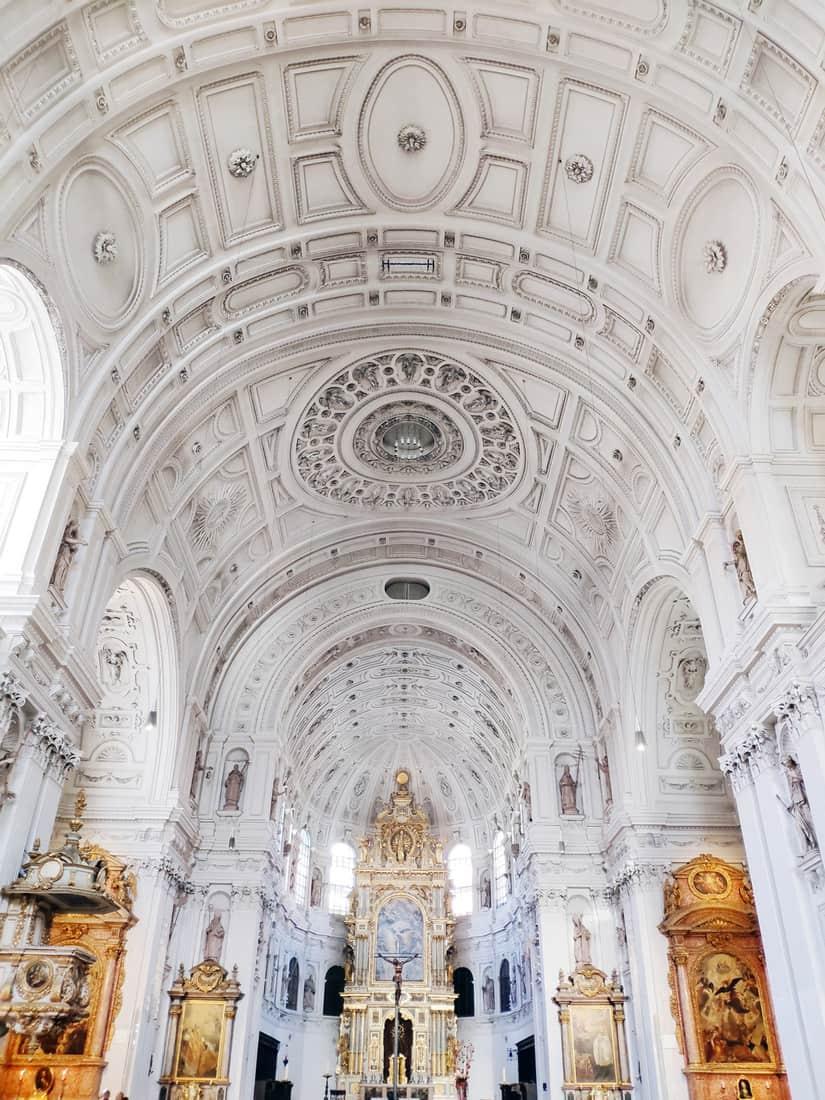 Interior of St. Michael's Church in Munich. St Michael is a Jesuit church