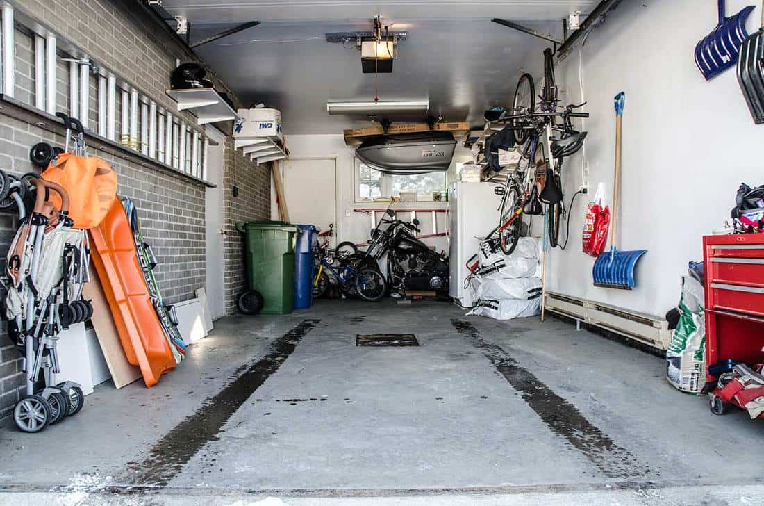 Interior of a car residential garage without the car