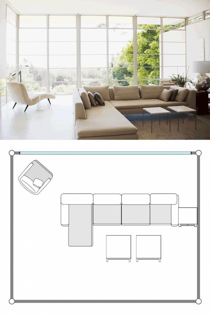 Japanese inspired living room archite