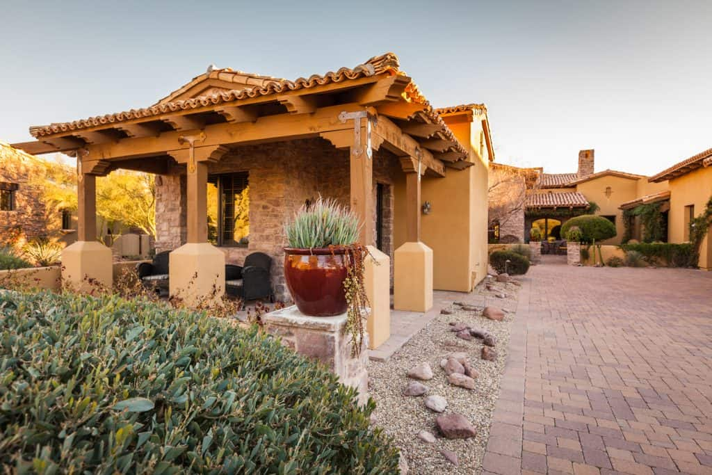 Luxury home guest casita in the southwest USA.