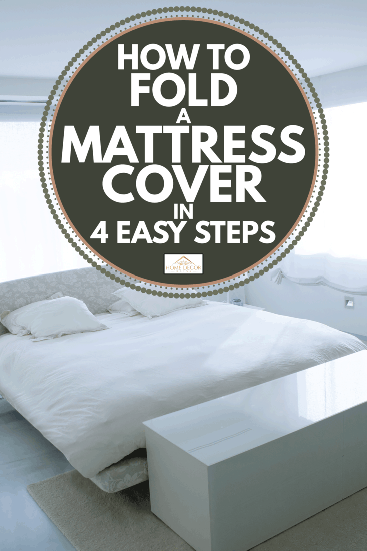 Modern white house bedroom with marble floor, white mattress cover. How To Fold A Mattress Cover In 4 Easy Steps