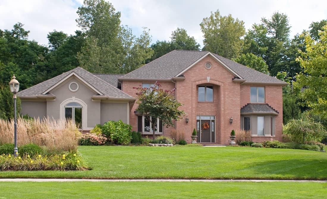 Red Brick & Tan Stucco Home