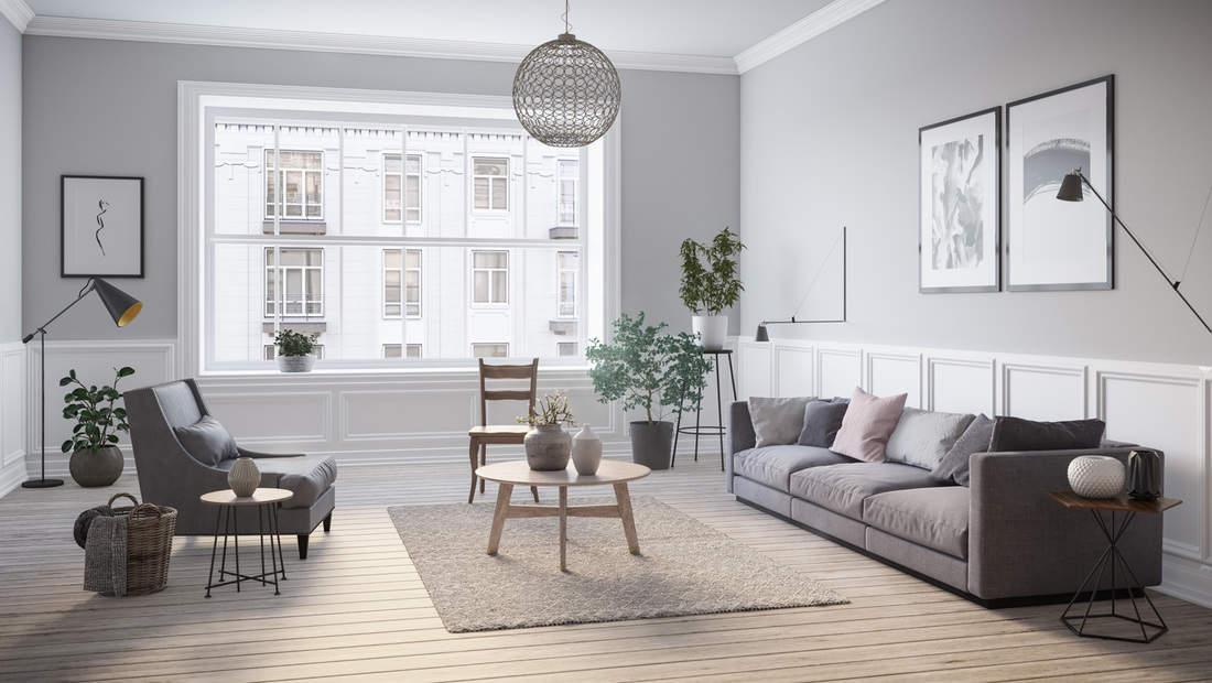 Scandinavian interior design living room