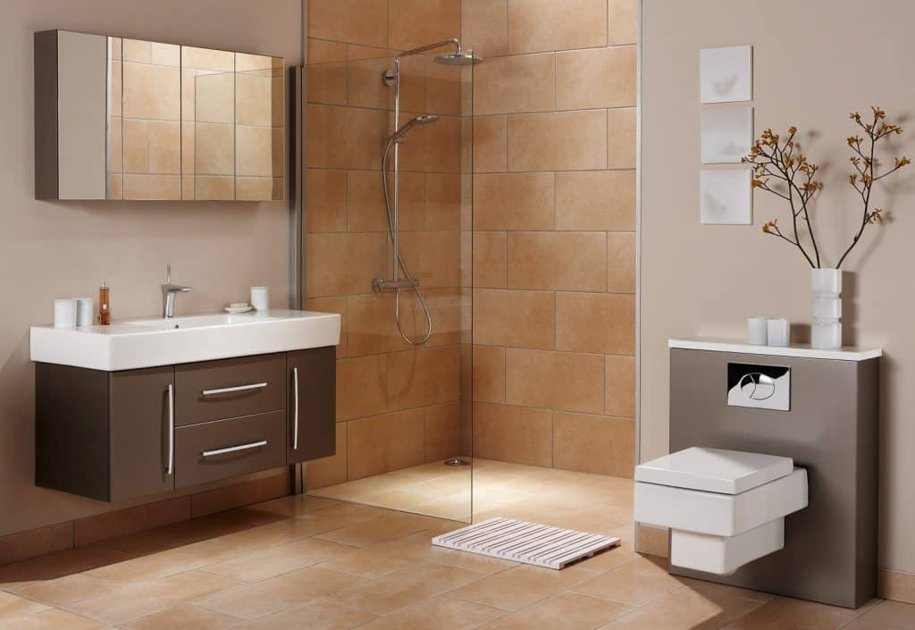 Shot of luxurious interior of a bathroom with shower