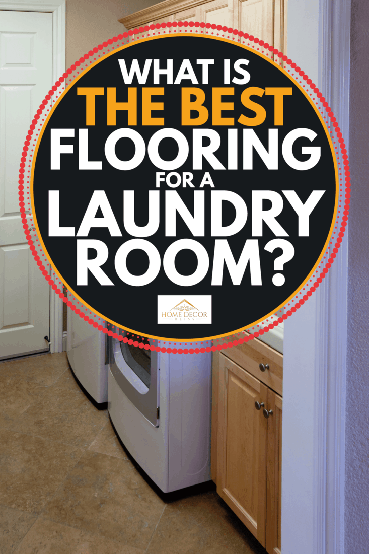 Small laundry room in a house. ceramic floor tile. What Is The Best Flooring For A Laundry Room