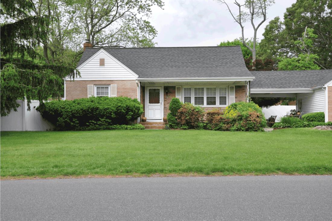 Suburban home front yard