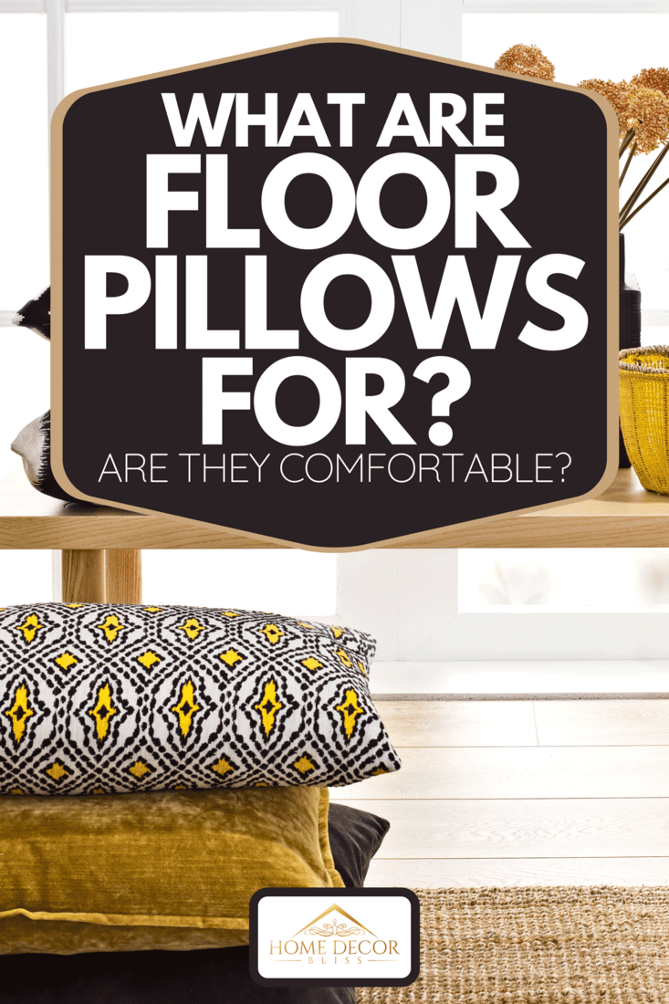 A chic home living room interior with pillows on the floor, What Are Floor Pillows For? [Are They Comfortable?]