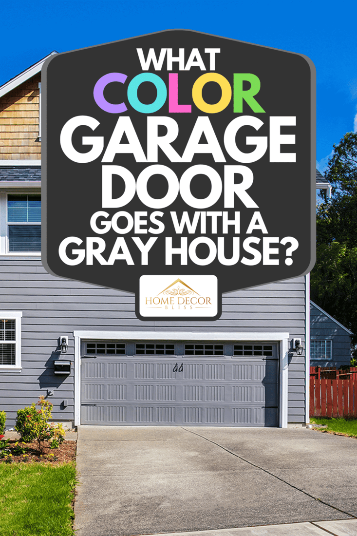 A modern gray house with front stairway and porch, What Color Garage Door Goes With A Gray House?