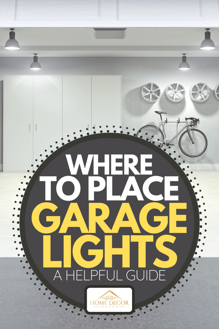 Modern empty garage interior viewing from outside of the open garage door, Where To Place Garage Lights [A Helpful Guide]