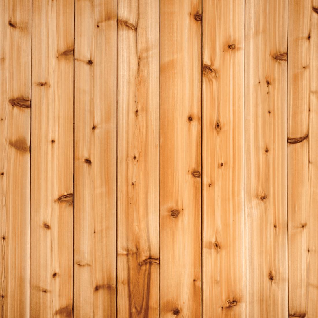 cedar plank installed