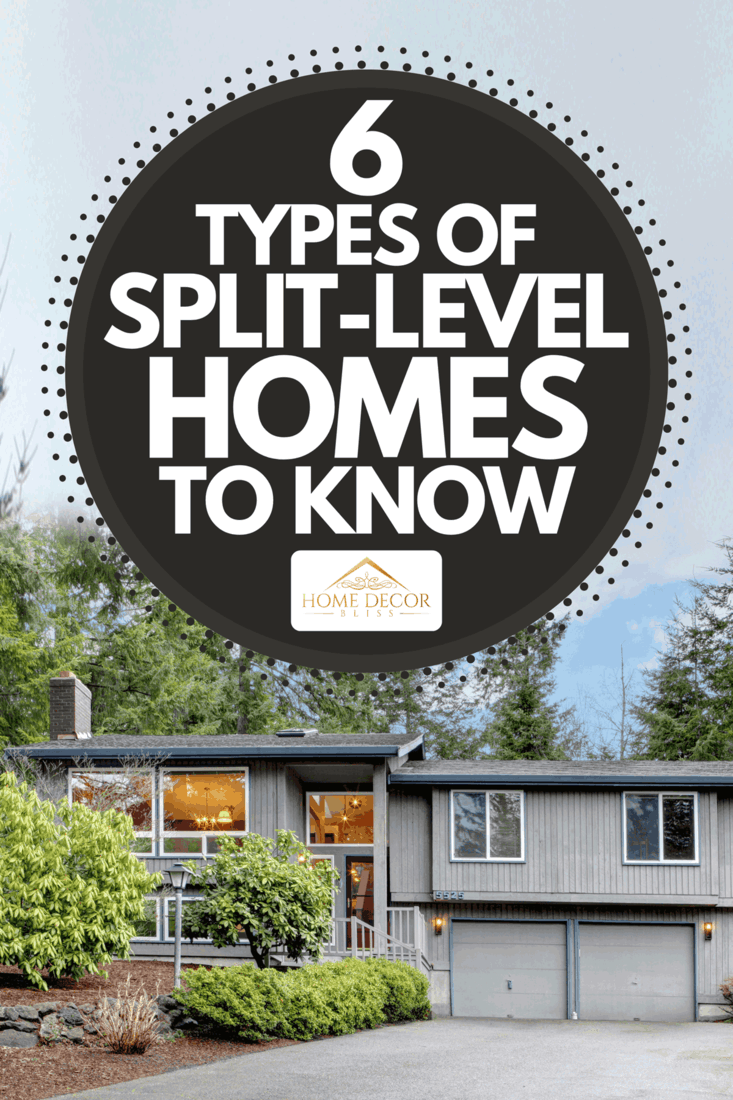Split level brown gray house front exterior, 6 Types Of Split-Level Homes To Know
