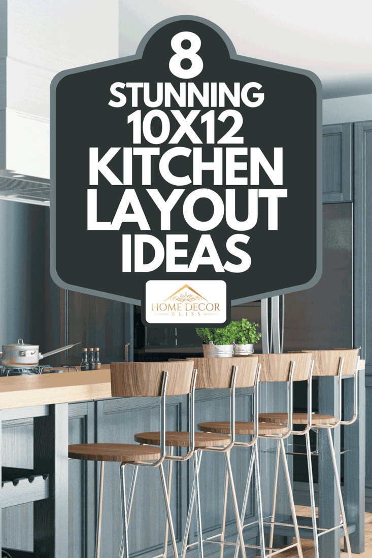 A residential interior of modern kitchen in luxury mansion, 8 Stunning 10x12 Kitchen Layout Ideas