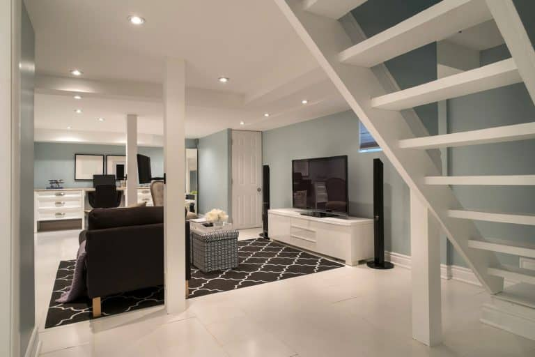 A basement turned into completely renovated for modern family living, How To Make A Basement Smell Better [9 Helpful Methods]