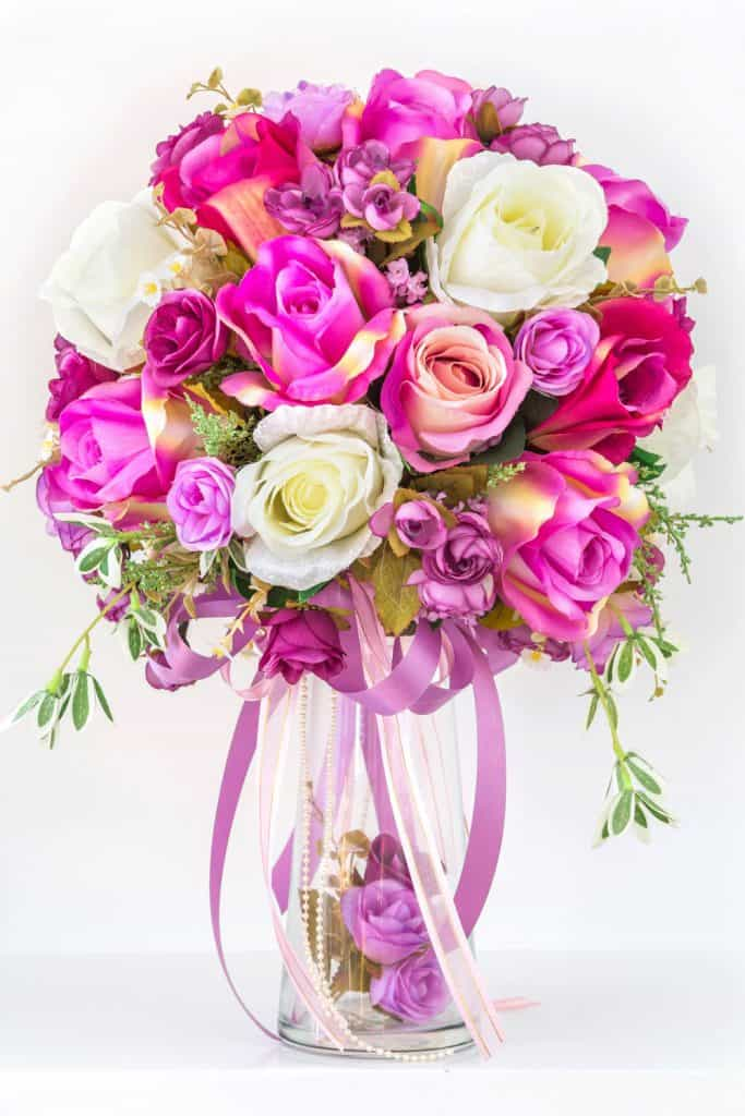 A gorgeous violet tulip bouquet