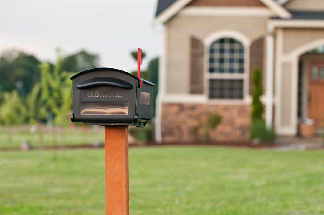 A mailbox outside of a house